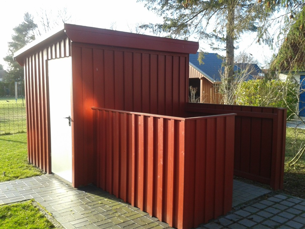 Gerätekammer + Mülltonnenbox
