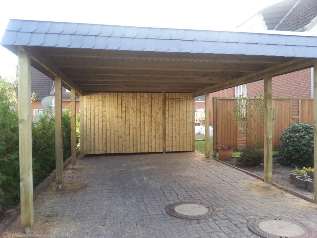 carport NORD Holz Carport Walmblende November 2014 012