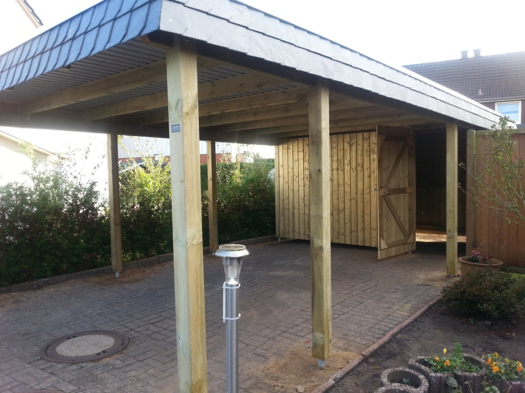 carport NORD Holz Carport Walmblende November 2014 015