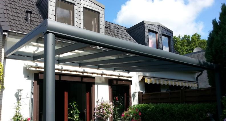 Terrassenüberdachung Typ TREND mit 10mm VSG ungeteilt