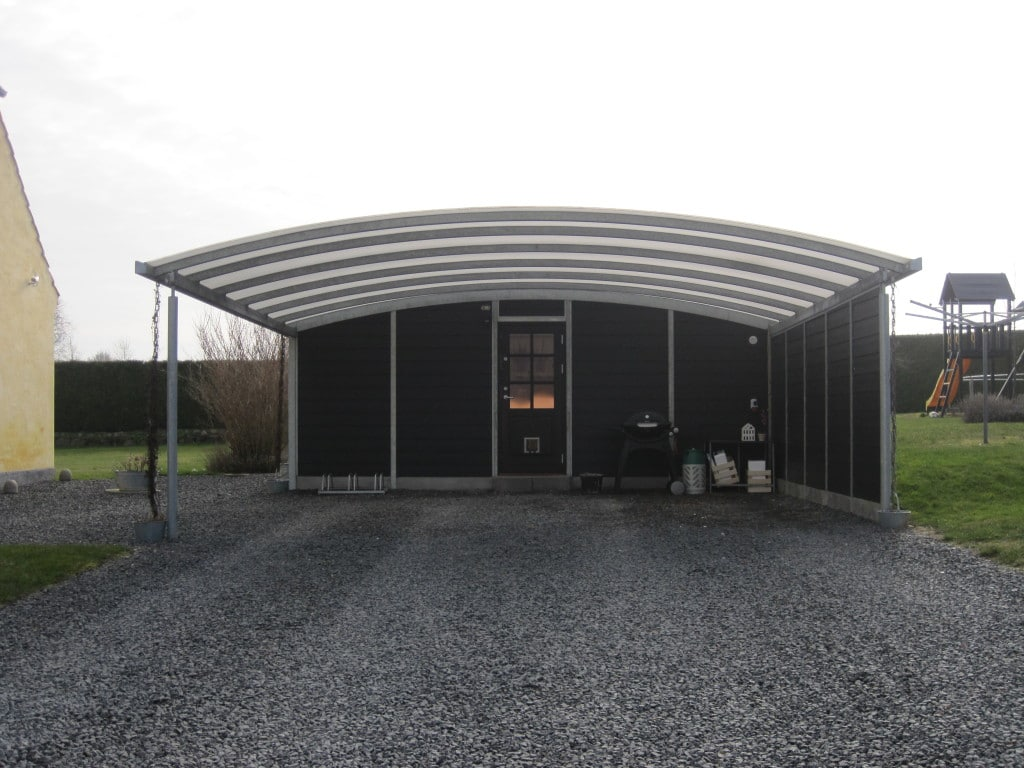 carport NORD Galerie Bogendach Stahlcarports