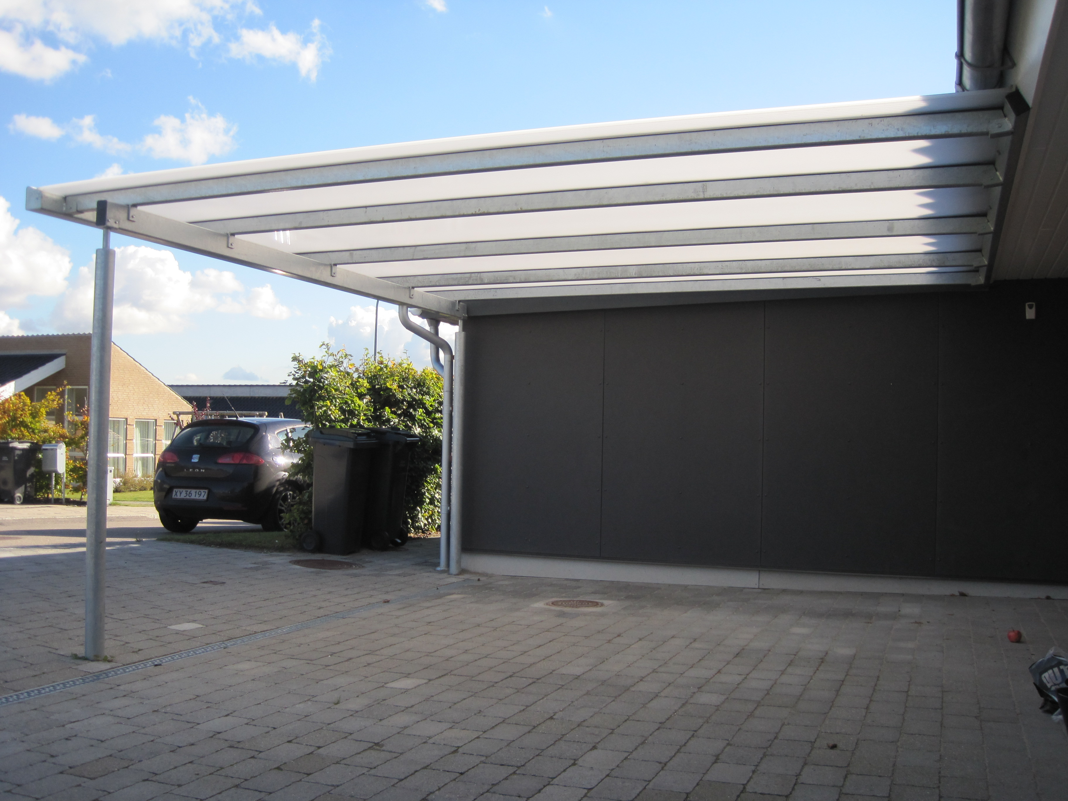 galerie stahlcarport pultdach carport nord carport. Black Bedroom Furniture Sets. Home Design Ideas