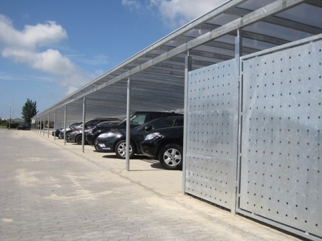 Galerie Stahlcarports Serienanlagen