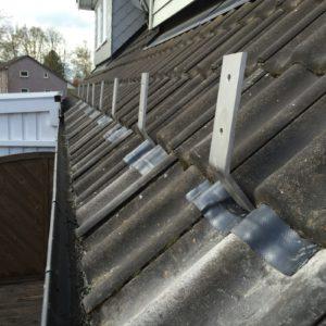 aufdachmontage eines terrassendaches bei niedrigem dachstand. Black Bedroom Furniture Sets. Home Design Ideas